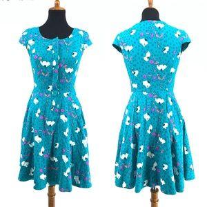 Lilly Pulitzer RARE Print Sheep Floral Retro Dress